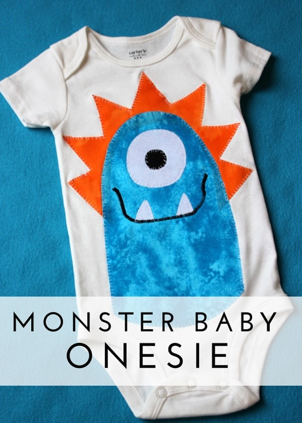 Check out this tutorial for making an applique monster oneside to complete your Monster of a First Birthday Bash!