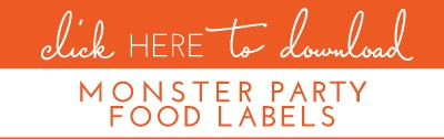 Monster-Party-Food-Labels