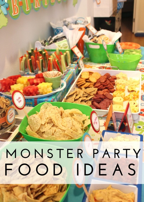 Check out this adorable Monster-themed birthday party...with tons of clever and easy party food tricks!