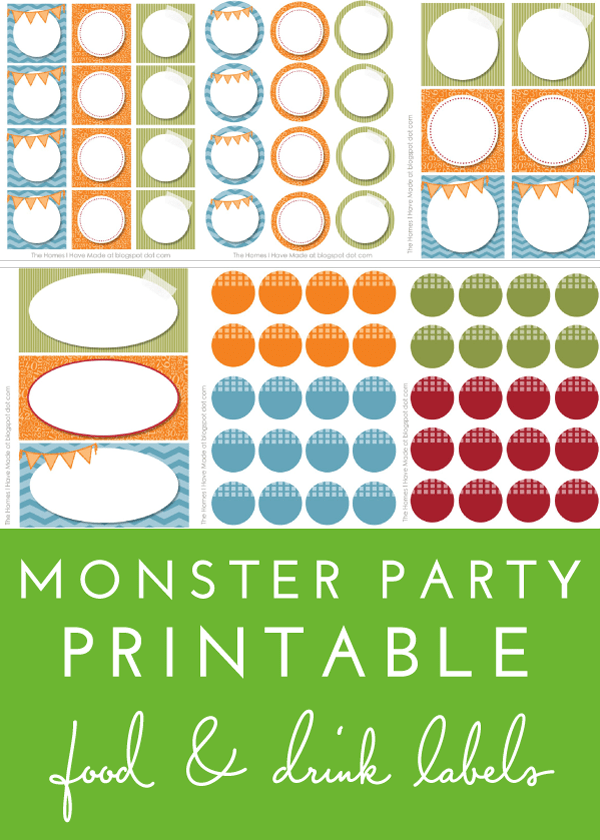 Use these ready-to-print food and drink labels at your next birthday party!