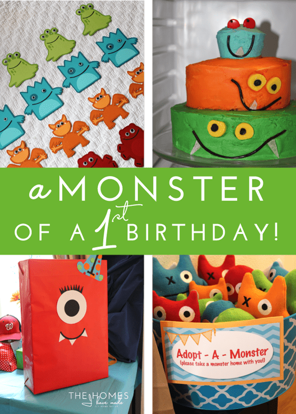 Check out this adorable Monster-themed first birthday party, full of adorable and doable DIY details, food and ideas!