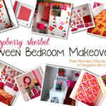 a raspberry sherbet Tween Bedroom Makeover!