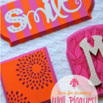 Ideas for Decorating Wall Plaques – Striped Word Art