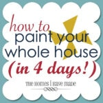 How To Paint Your Whole House (in 4 days!)