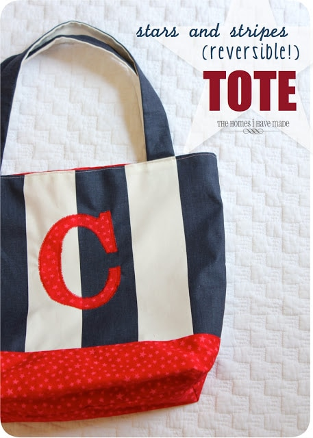 Stars and Stripes (reversible) Tote!
