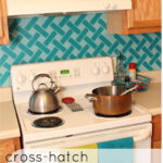 "Cross-Hatch Vinyl ""Tile"" Backsplash!"