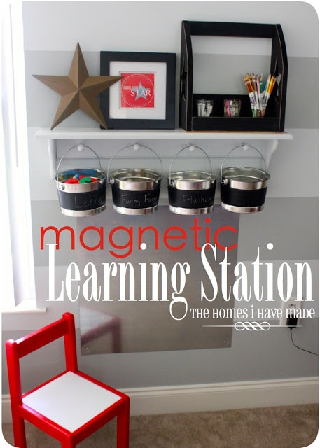 Magnetic Learning Station (Playroom Update)