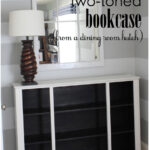 Two-Toned Bookcase (from a dining room hutch!)