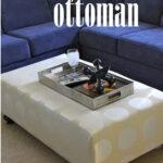 DIY Oversized Ottoman {Living Room Update}