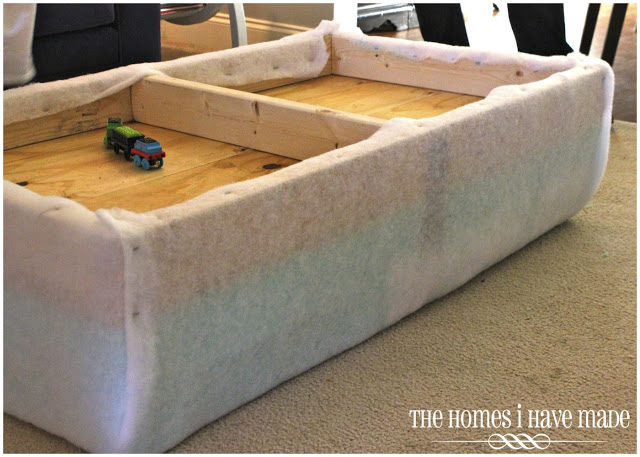 How to make an oversized ottoman tutorial the homes i for Diy ottoman bed frame