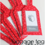 Luggage Tag Labels {Play Room Update}