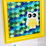 Owl Paint Chip Art {Little Boy Room Project}