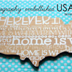 Typography-Embellished USA {Entryway Project}