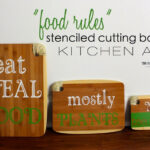 Stenciled Cutting Boards as Kitchen Art