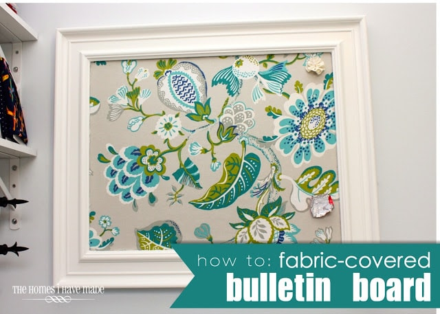 How to fabric covered bulletin board the homes i have made for How to make a bulletin board wall