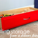 Rolling Storage (from a dresser drawer!)