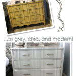 A Modern Makeover for a Classic Piece – A Little Grey Dresser