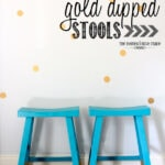Gold-Dipped Stools