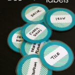 DIY Dry Erase Labels