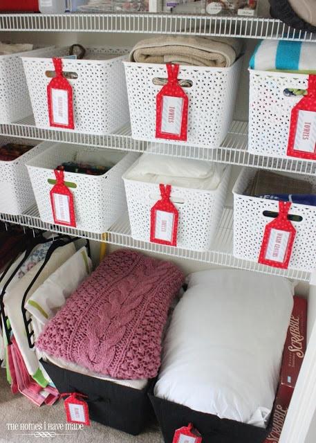 organizing the linen closet
