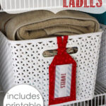 Linen Closet Labels (with free printable labels!)