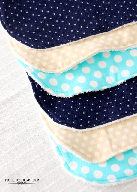 My terry & flannel burp cloths are some of the most important baby items I have. They are so effective while also looking great! Here's how to make them...