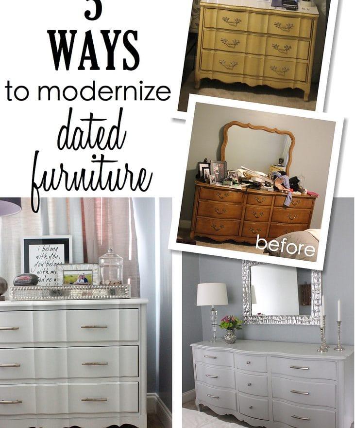 5 Ways To Modernize Dated Furniture