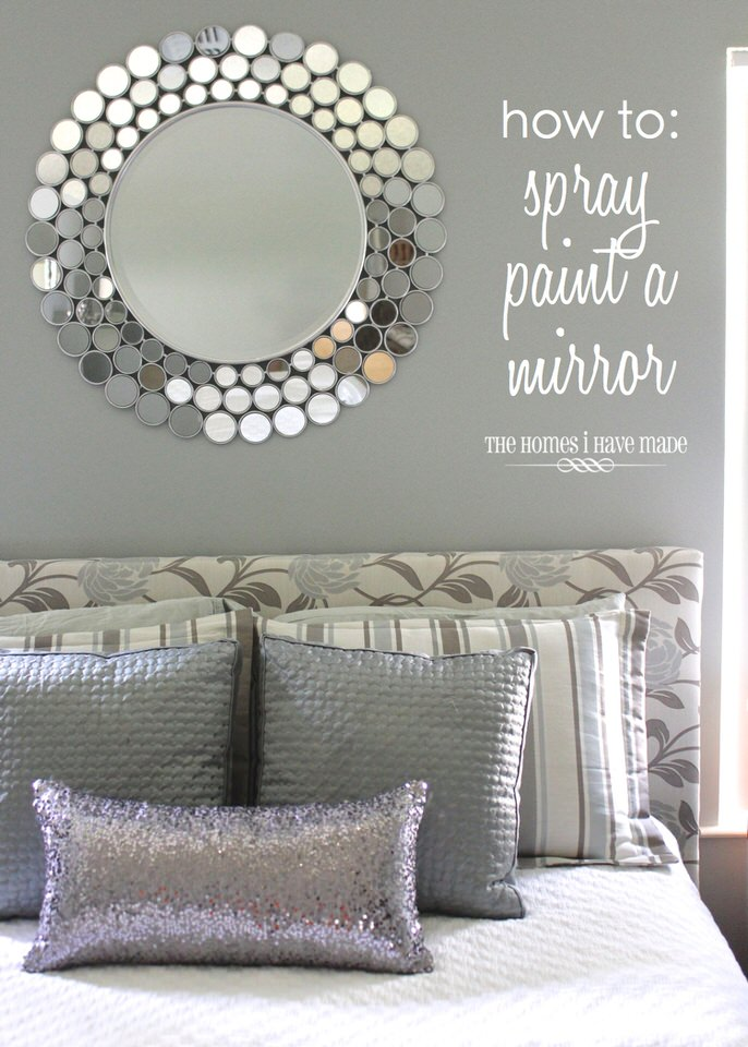 How to Spray Paint a Mirror