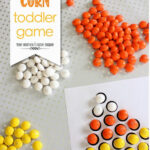 Guest Post Today – Candy Corn Toddler Game for Fall