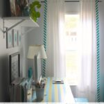 Stripe-Edged Curtains (Using Chevron Fabric!)