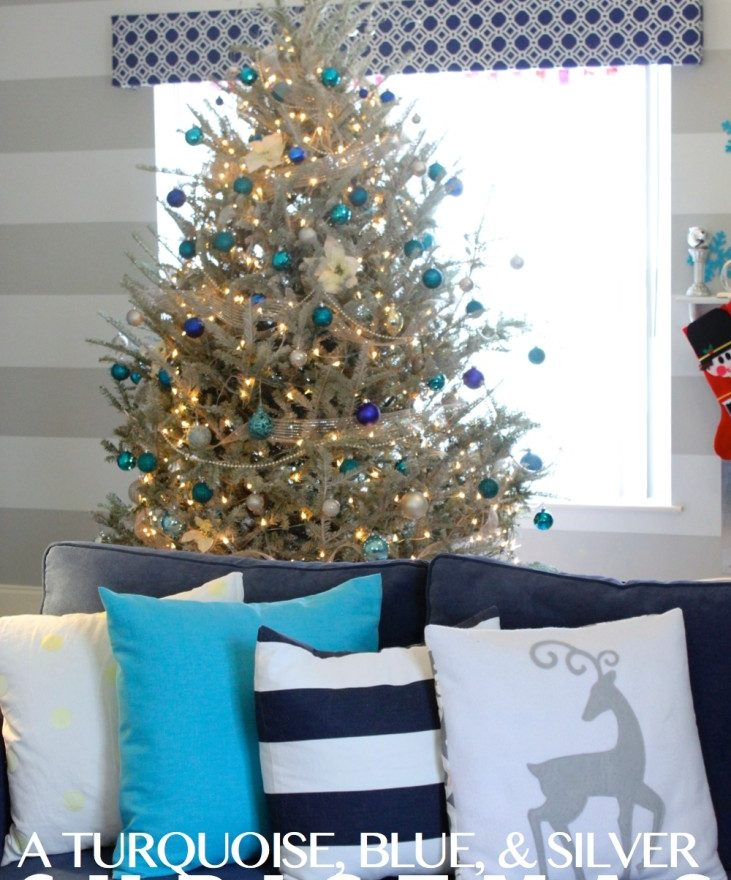 Turquoise And White Christmas Tree: A Turquoise, Blue And Silver Christmas