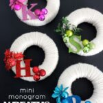 Mini Monogram Wreaths