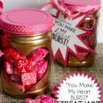 """You Make My Heart Burst!"" Valentine Treat Jars"