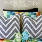 The Quickest, Easiest and Cheapest Throw Pillows You'll Ever Make!