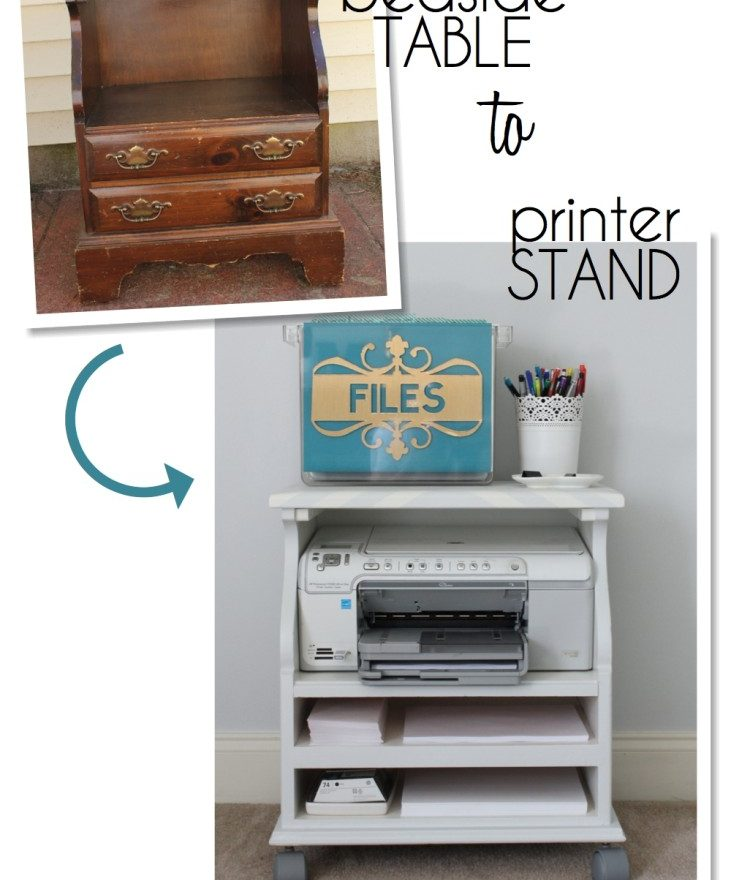For Rent Com Houses: Beside Table Turned Rolling Printer Cart
