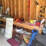An Organized Garage Work Space