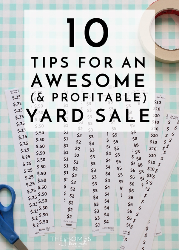 Get ready to have your best yard sale yet with these 10 tried-and-true tips. This blogger made over $20,000 across four sales using these tips for an awesome yard sale!