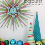 Pencil Starburst Wreath