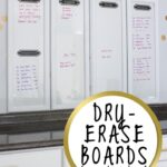 Framed Dry Erase Boards (from cabinet doors!)