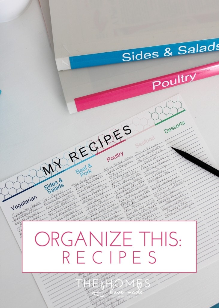 Organize This: Recipes (and how I meal plan now!)