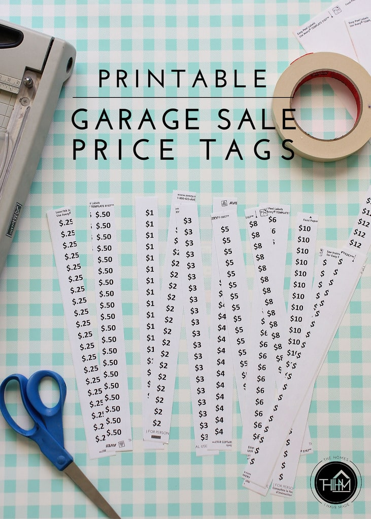 This is a picture of Playful Printable Garage Sale Price List