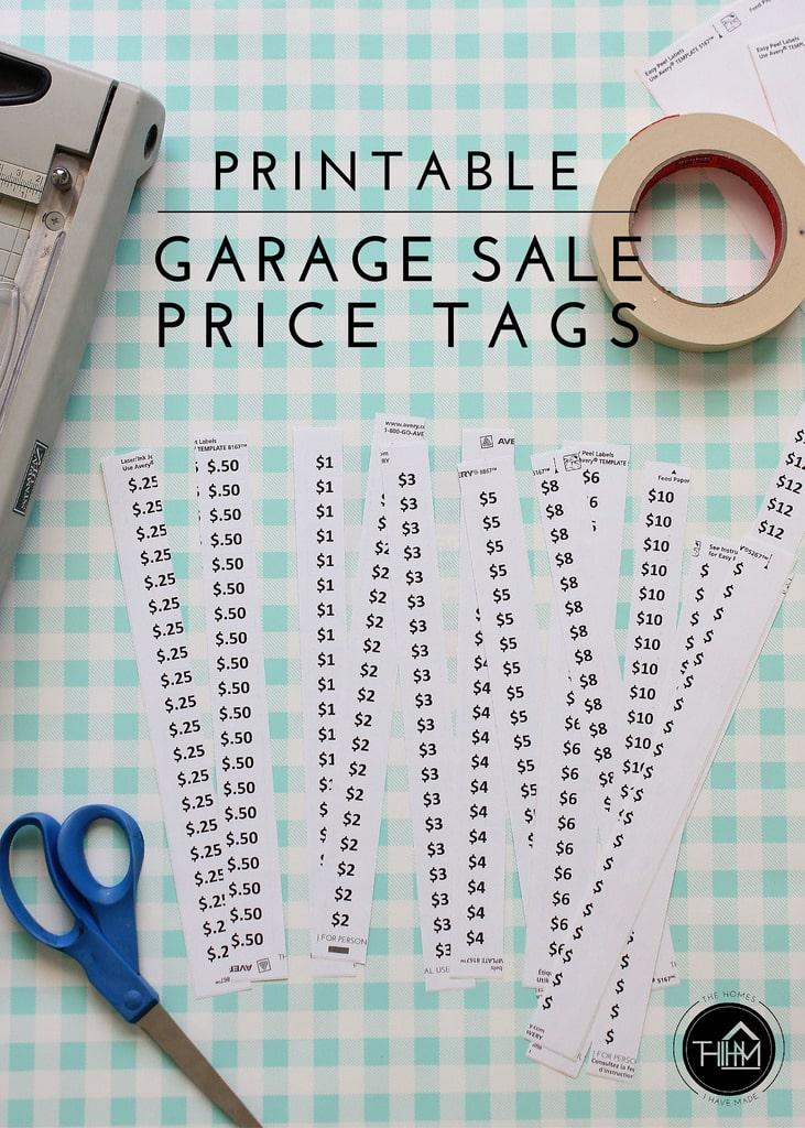 Selective image for printable sale tags