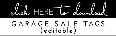 Printable Garage Sale Price Tags The Homes I Have Made Make Your Own Beautiful  HD Wallpapers, Images Over 1000+ [ralydesign.ml]