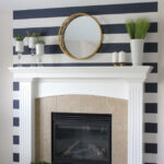 Renter-Friendly Striped Fireplace Feature