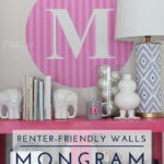 Renter-Friendly Walls: Monogram Wall Decal (with Name Bubbles!)