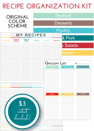 Recipe Organization Kit - Original