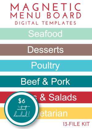 Magnetic Menu Board Kit - Original