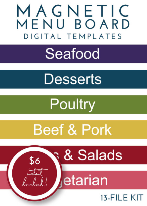 Magnetic Menu Board Kit - Modern