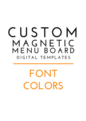Custom Menu Board Magnets - Fonts and Colors