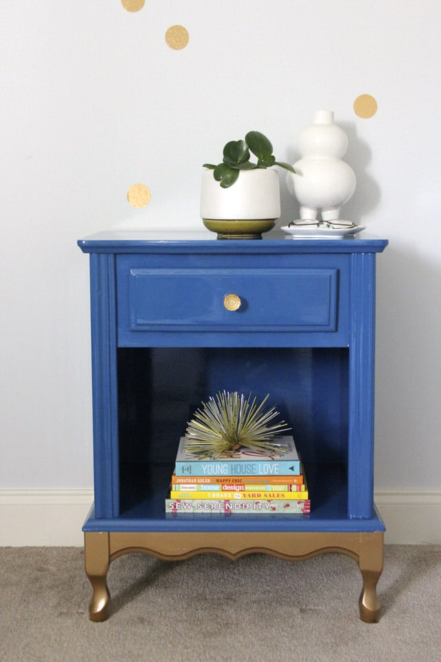 Blue & Gold Nightstand